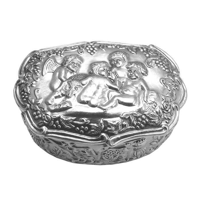 Sterling Silver Gathering Pill Box