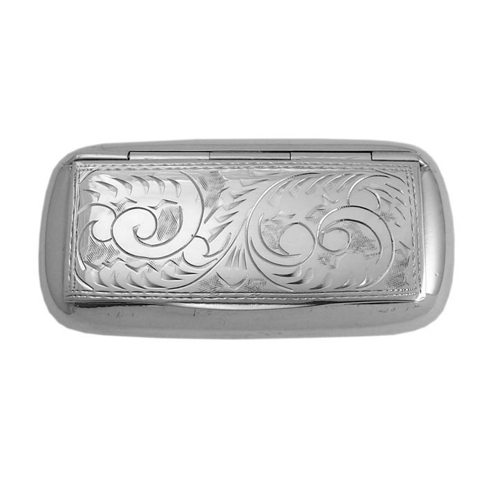 Sterling Silver Victorian Style Pill Box