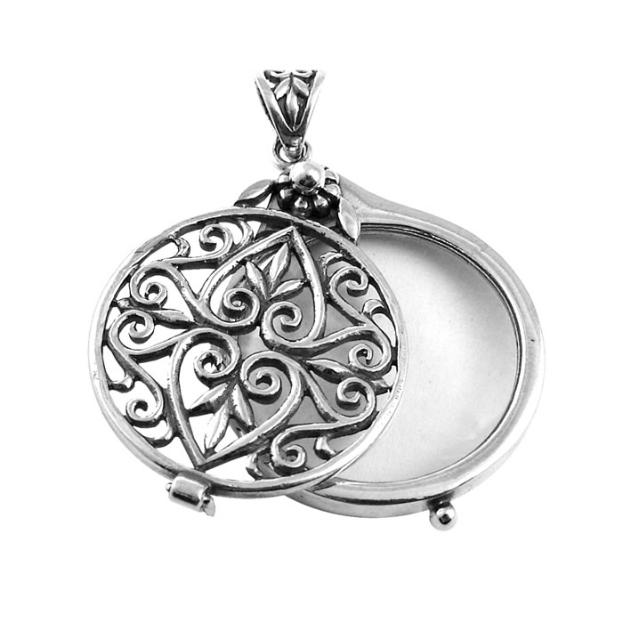 Sterling Silver Small Celtic Magnifying Glass Pendant