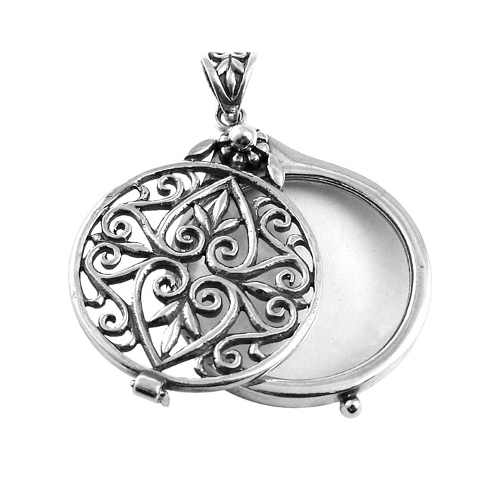 Sterling Silver Large Celtic Magnifying Glass Pendant