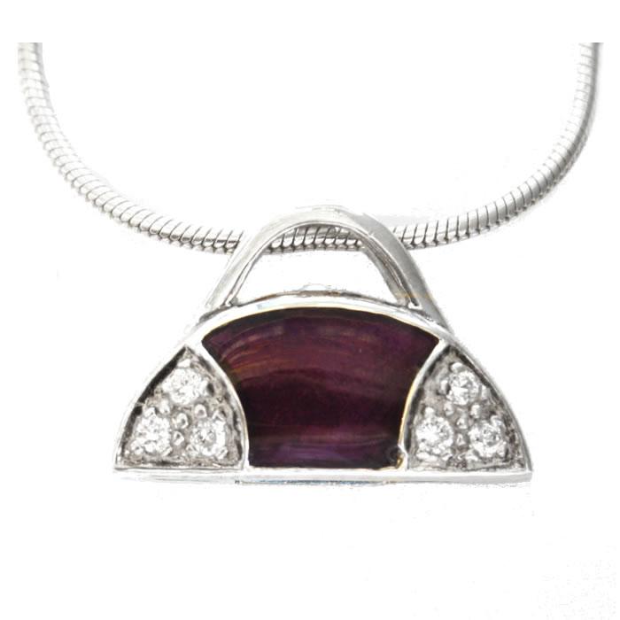 Sterling Silver Handbag Pendant