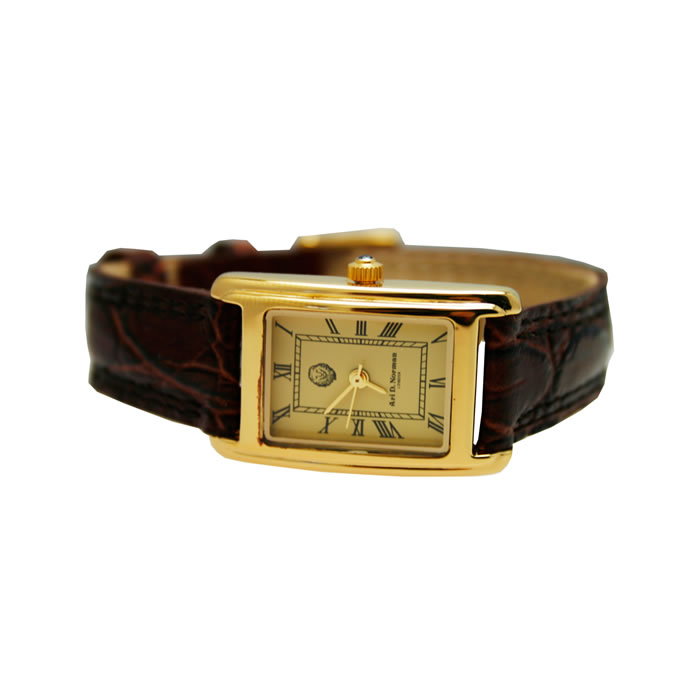 Sterling Silver Gold Plated Women Watch