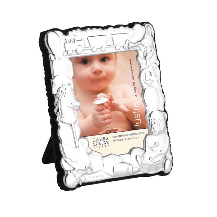 Sterling Silver Babys 8x6 Cm Photo Frame With Velvet Back