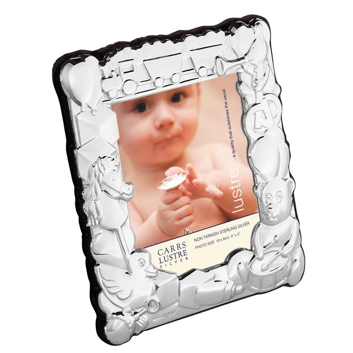 Sterling Silver Babys 10x8 Cm Photo Frame With Velvet Back