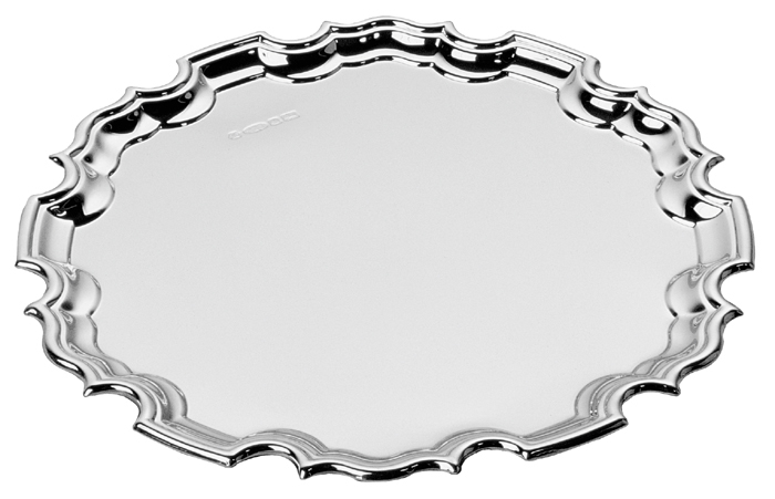 Sterling Silver Chippendale Mounted Waiter 20cm 8 Inch