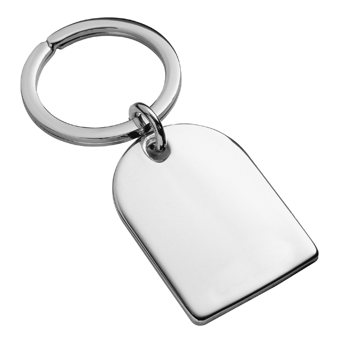 Sterling Silver Arch Keyring With Split Ring