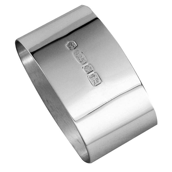 Sterling Silver Plain Oval Napkin Ring