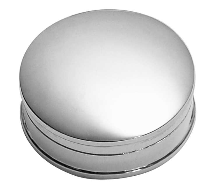 Sterling Silver Plain Round Pill Box