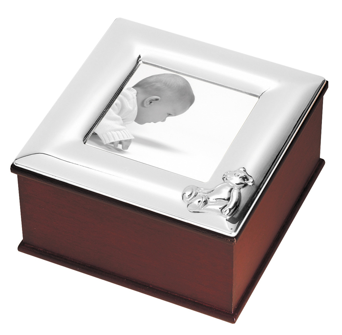 Sterling Silver Babys Photo Frame Keepsake Box