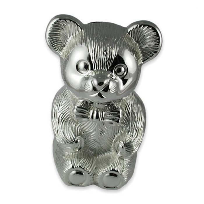 Plated Sterling Silver Bear Moneybox