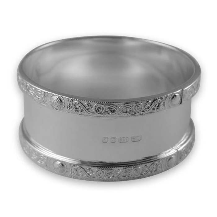 Sterling Silver Celtic Style Napkin Ring