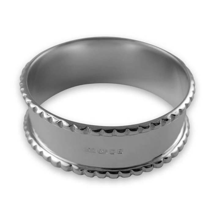 Sterling Silver Gadroon Napkin Ring