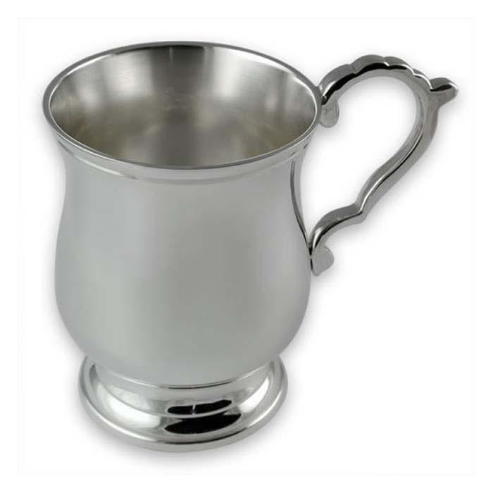 Plated Sterling Silver Childs Rabbit Christening Mug