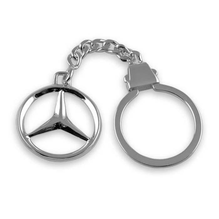 Plated Sterling Silver Mercedes Keyring