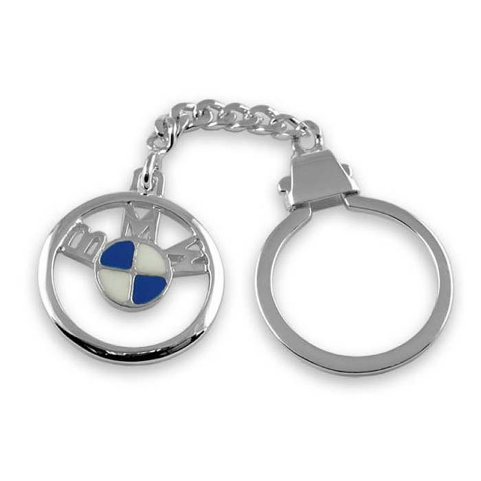 Plated Sterling Silver Bmw Keyring