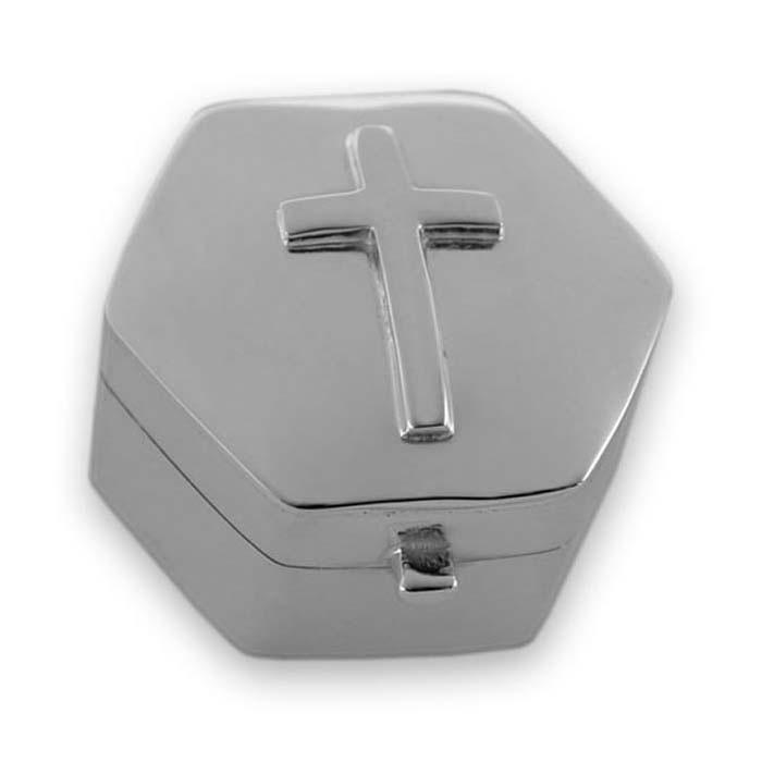 Sterling Silver Cross Keepaake Box