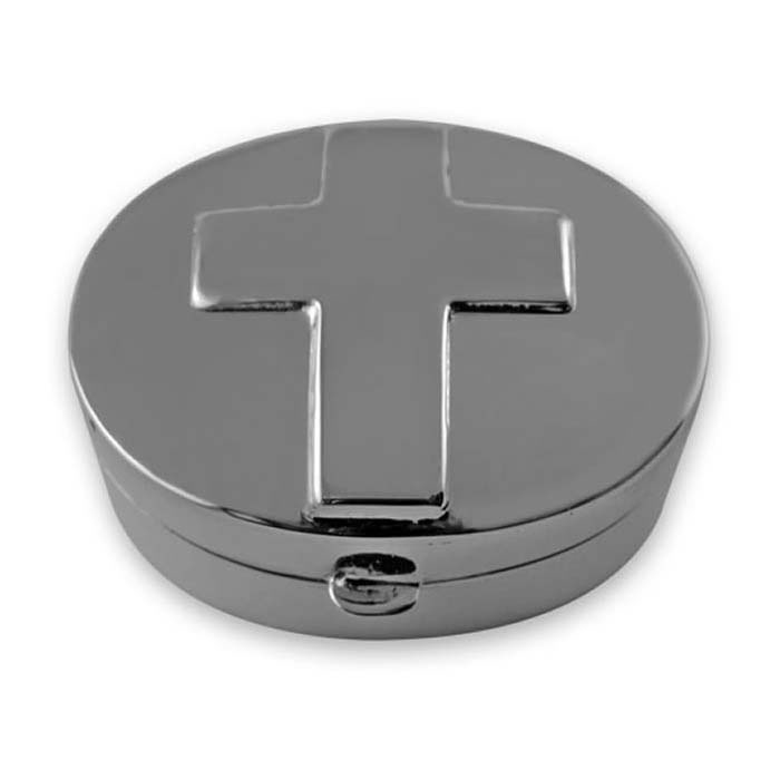 Sterling Silver Oval Cross Box