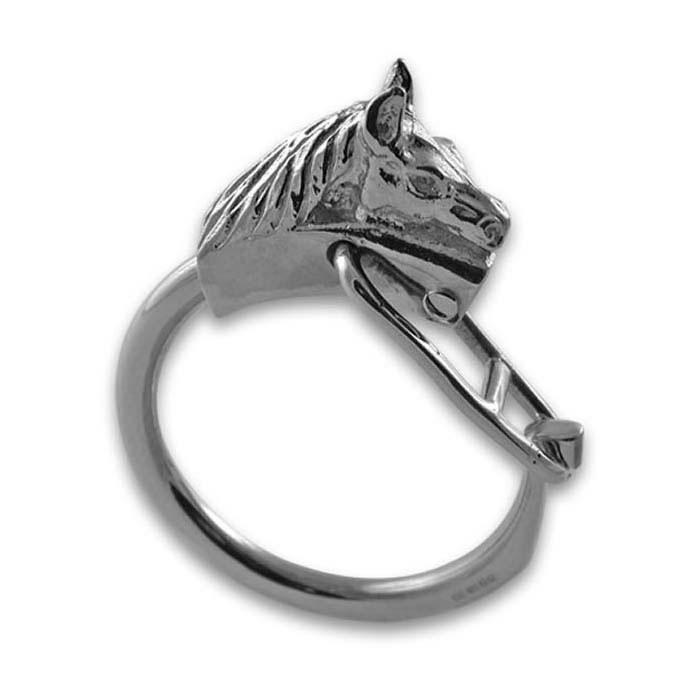 Sterling Silver Horses Head Keyring