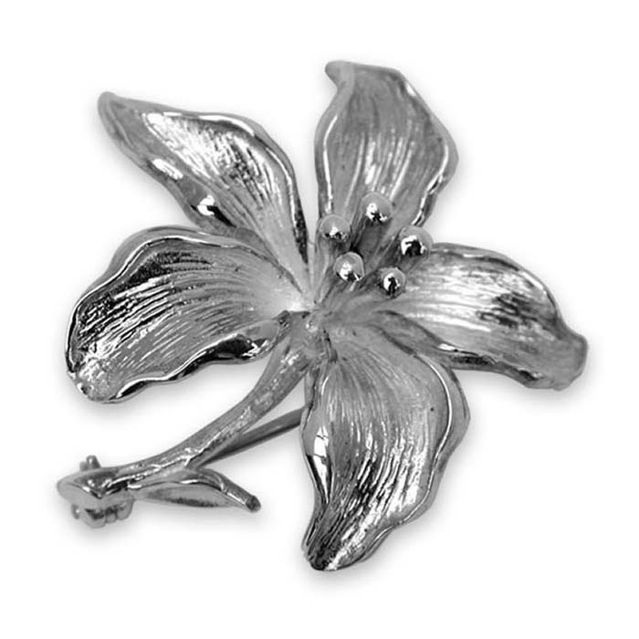 Sterling Silver Lily Brooch