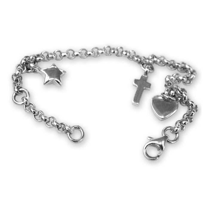 Sterling Silver Enamelled Charm Bracelet