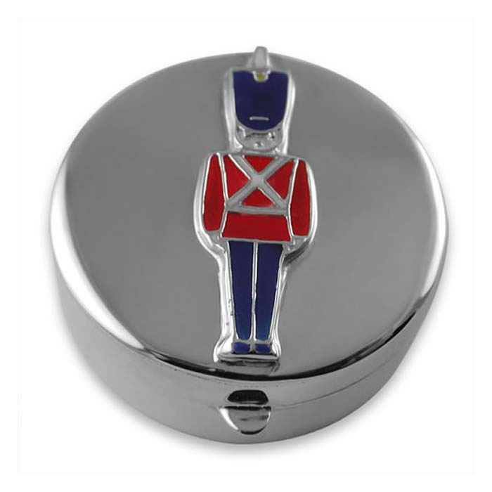 Sterling Silver Enamel Soldier Shaped  Box