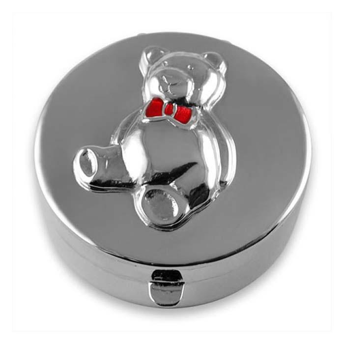 Sterling Silver Teddy Bear Keepsake Box