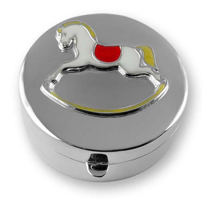 Sterling Silver Rocking Horse Keepsake Box
