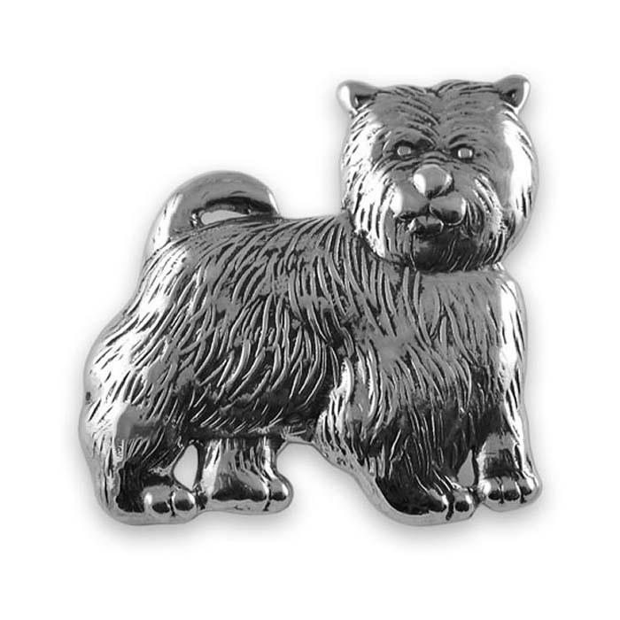 Sterling Silver Dog Brooch