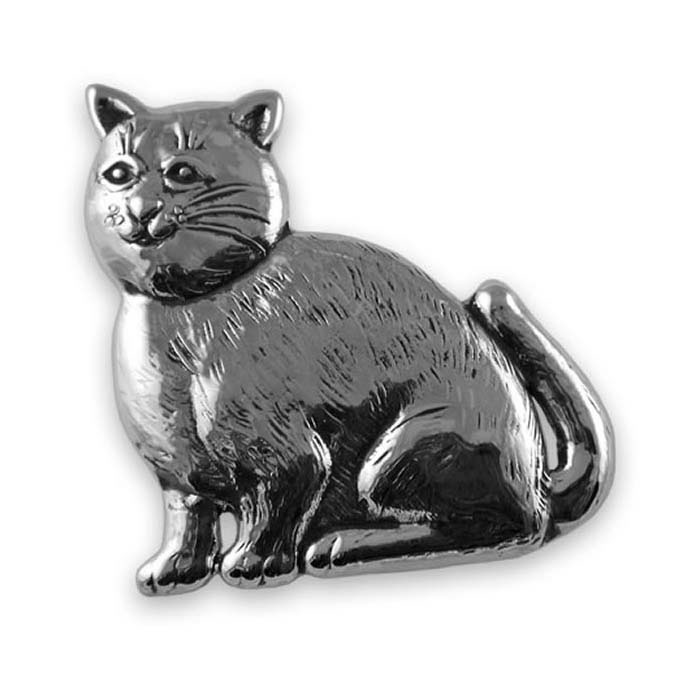 Sterling Silver Cat Style Brooch