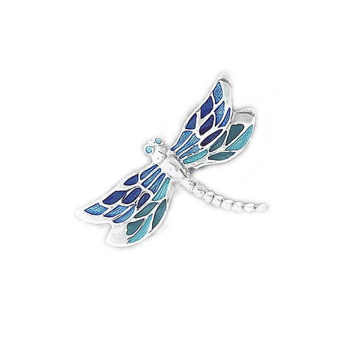 Sterling Silver Turquoise Dragonfly Brooch