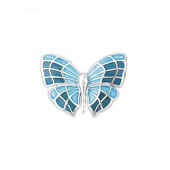 Sterling Silver Turquoise Butterfly Brooch