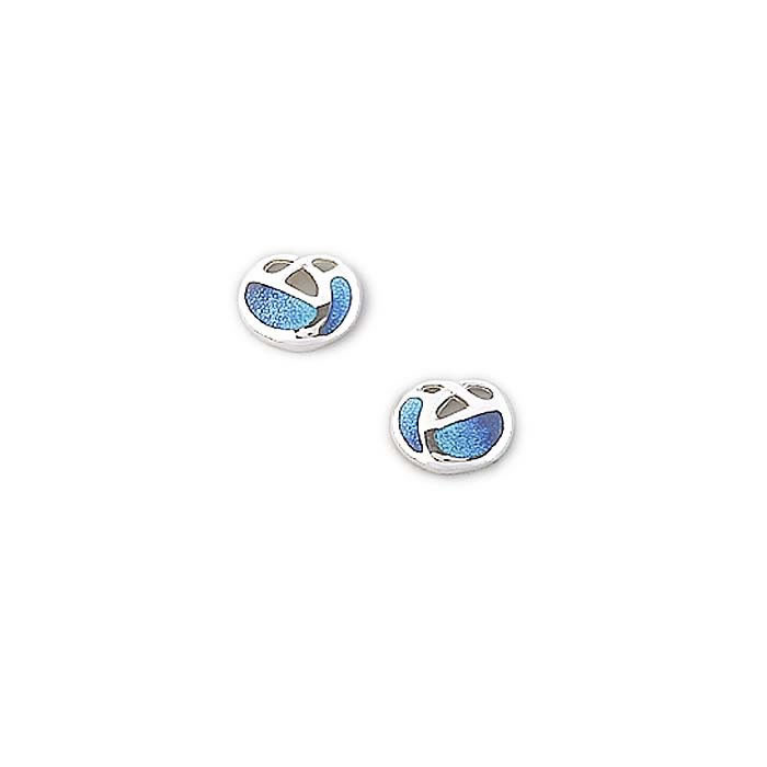 Sterling Silver Turquoise Art Nouveau Stud Earrings