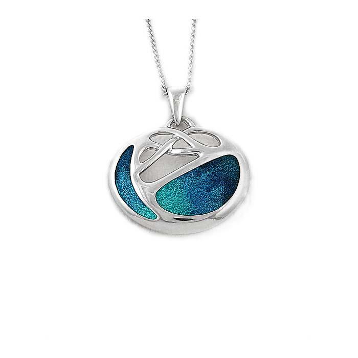 Sterling Silver Turquoise Art Nouveau Necklace