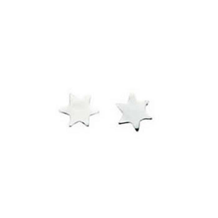 Sterling Silver Simple Star Stud Earrings