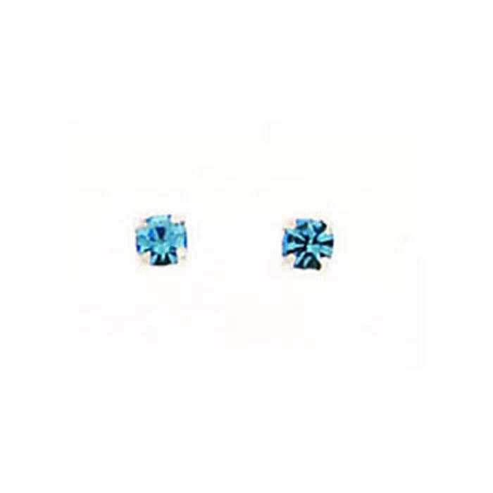 Sterling Silver Turquoise Effect Crystal Stud Earrings