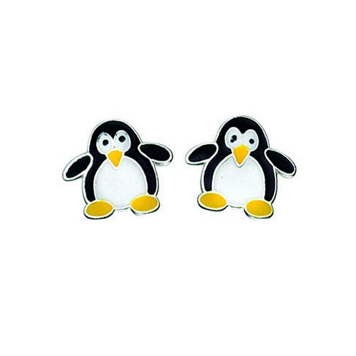 Sterling Silver Penguin Stud Earrings