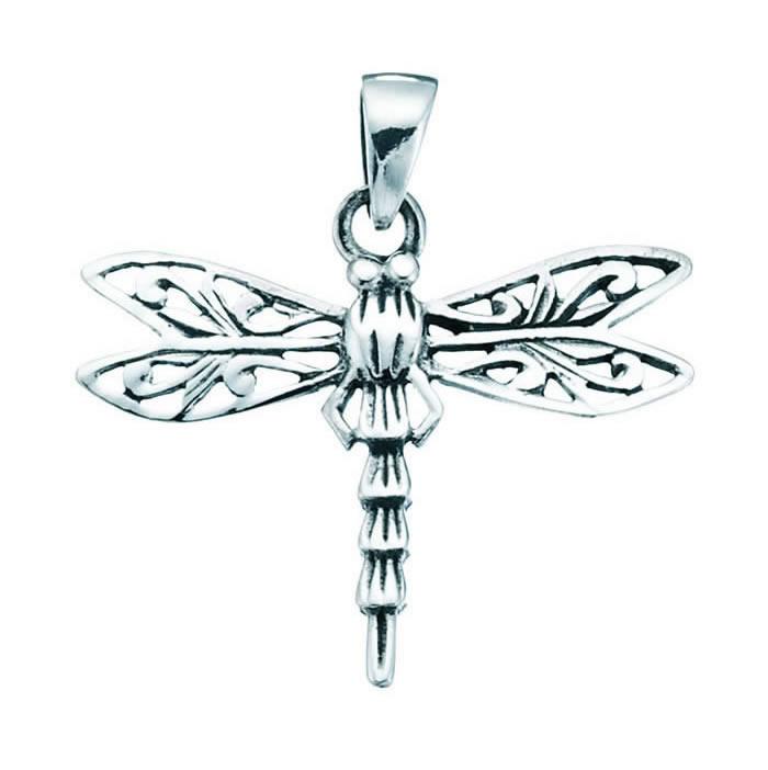 Sterling Silver Filigree Dragonfly Pendant