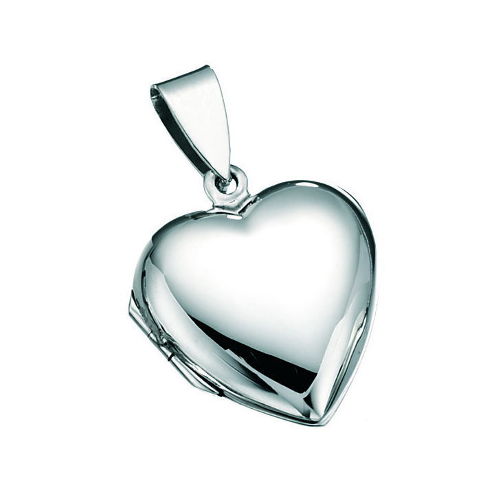 Sterling Silver Heart Locket Pendant