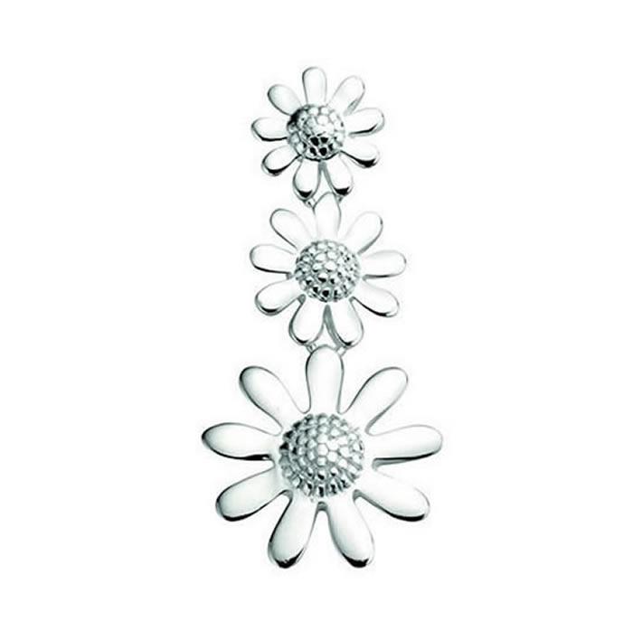 Sterling Silver Triple Flower Pendant