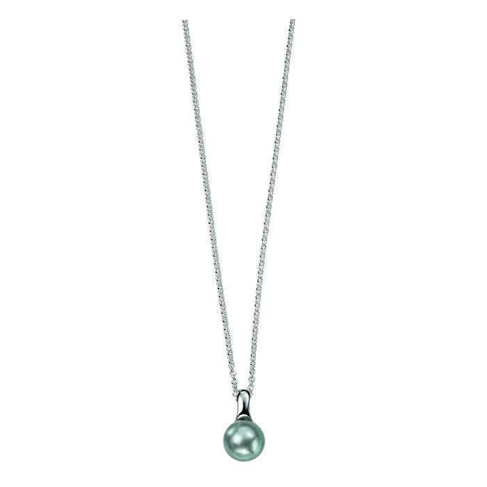 Sterling Silver Grey Freshwater Pearl Pendant