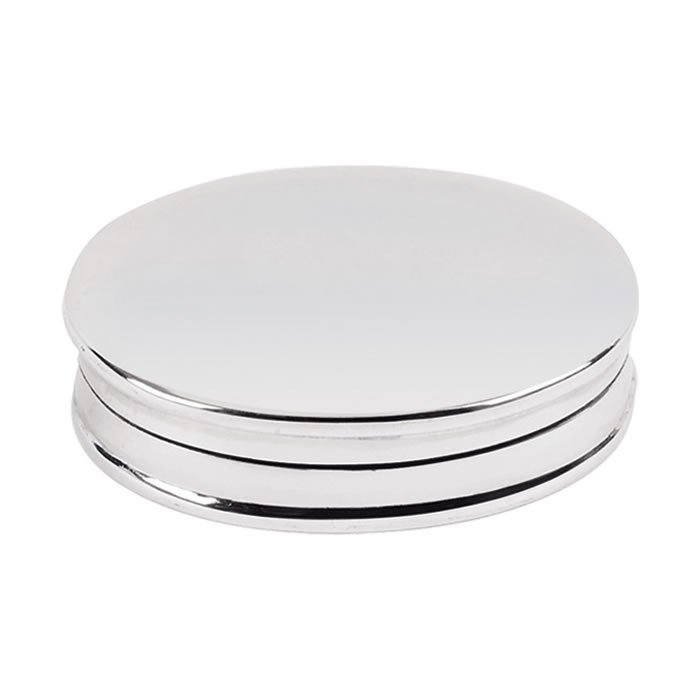 Sterling Silver Simple Oval Pill Box