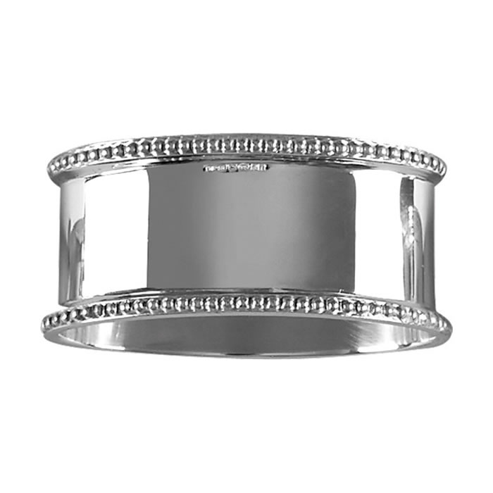 Sterling Silver Beaded Napkin Ring