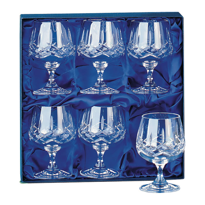 Crystal Brandy Snifters Set Of Six