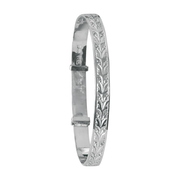 Sterling Silver Hallmarked Baby Bangle