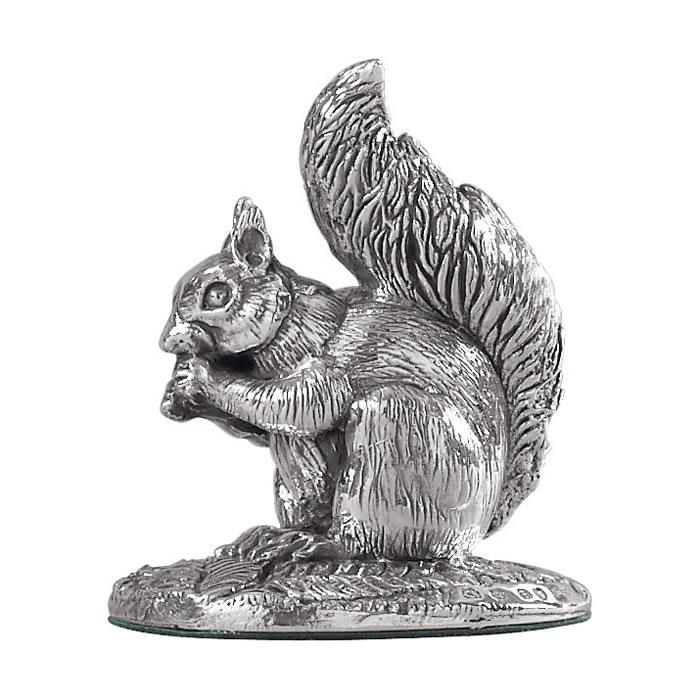 Sterling Silver Squirrel Sculpture
