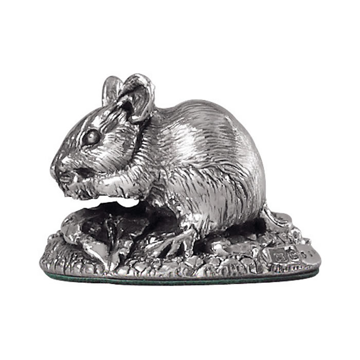 Sterling Silver Field Mouse Sculpture