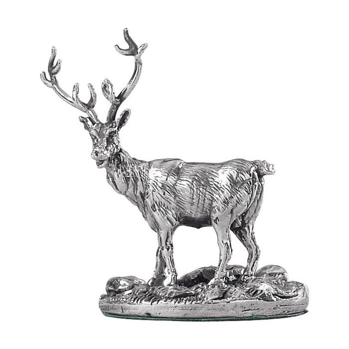 Sterling Silver Stag Deer Sculpture