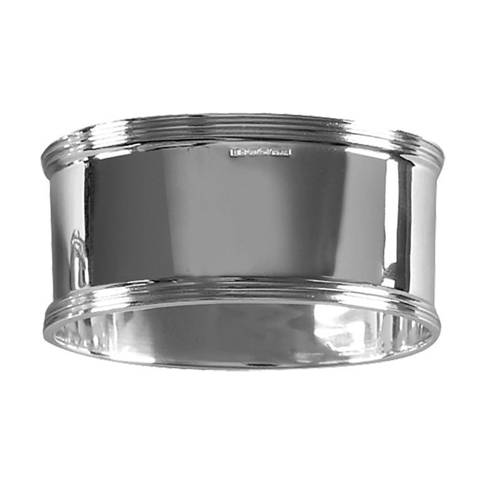 Sterling Silver Simpel Style Oval Napkin Ring