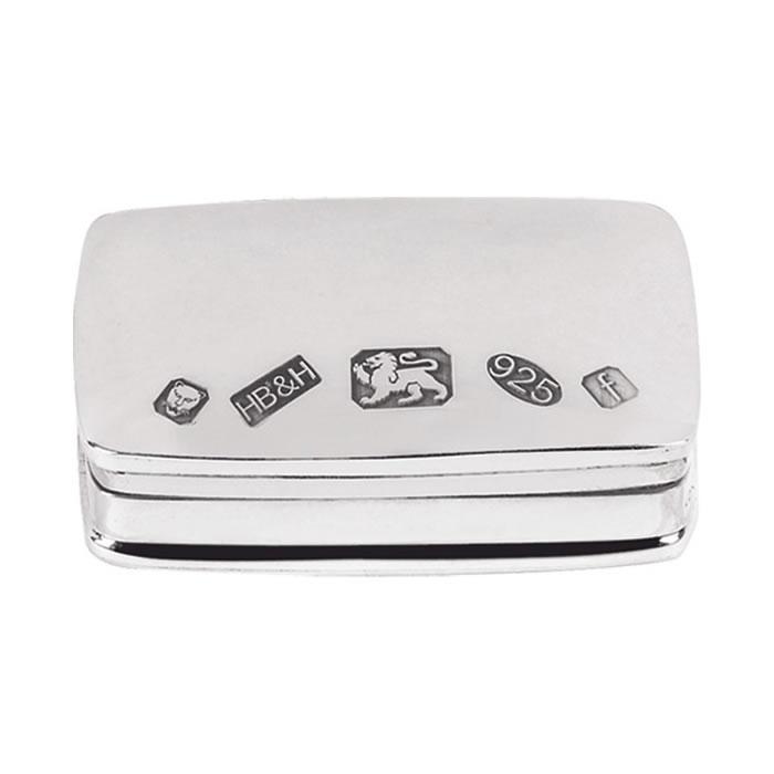 Sterling Silver Feature Hallmark Pill Box