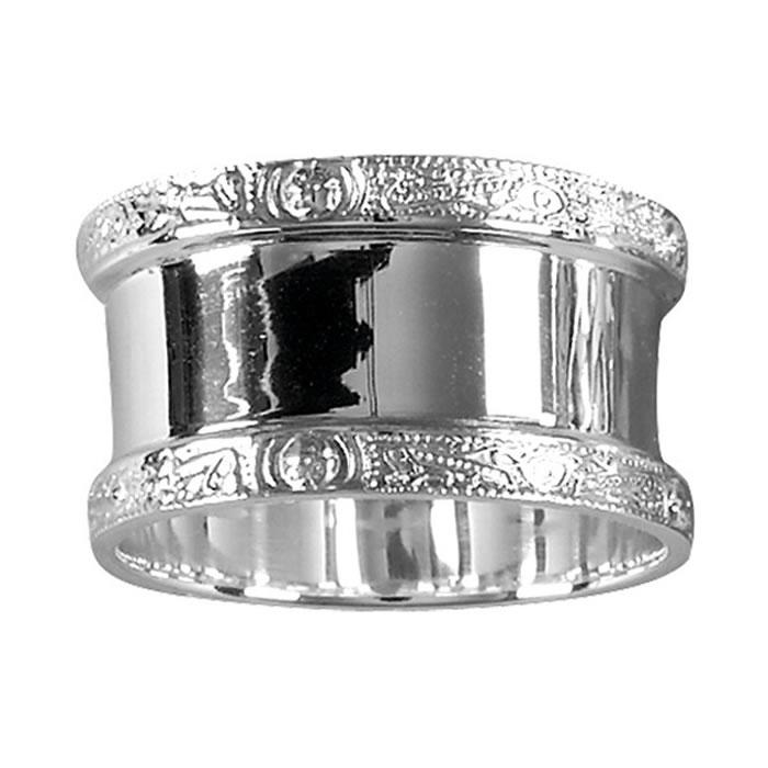 Sterling Silver Celtic Patterned Napkin Ring